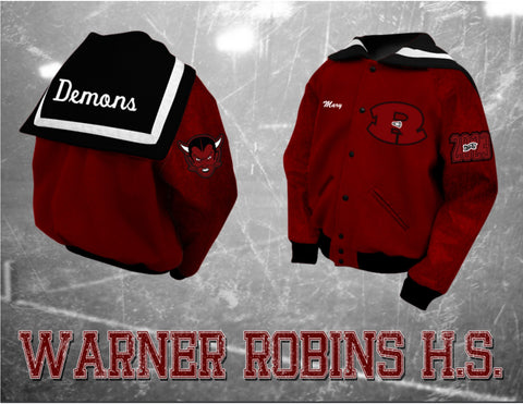 Warner Robins Cheer Letterman Jacket