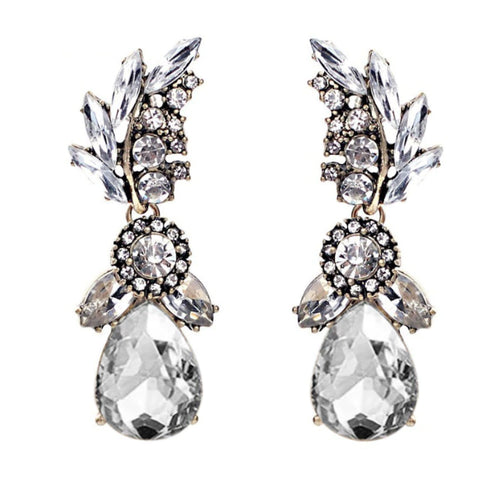 Carrie Drop Earrings - Clear