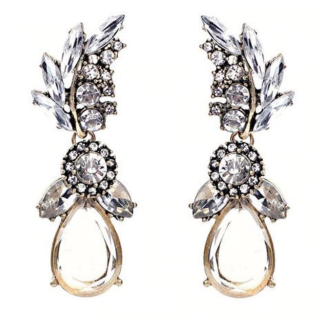 Carrie Drop Earrings - Champagne