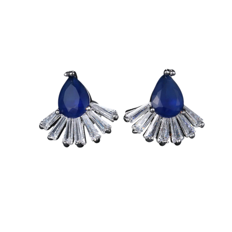 January Stud Earrings - Dark Blue
