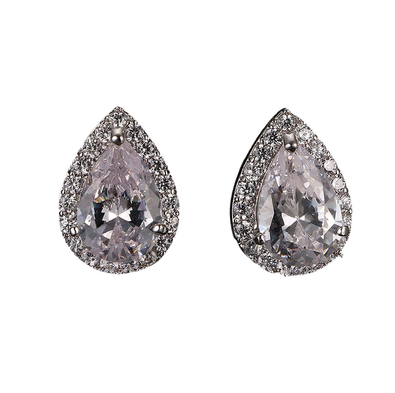 Celia Stud Earrings - White Gold