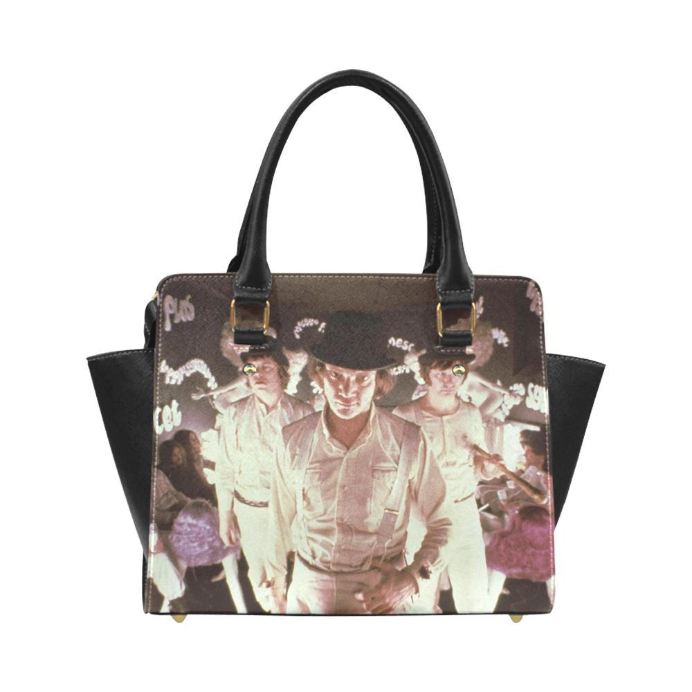 Clockwork Orange Leather Shoulder Bag