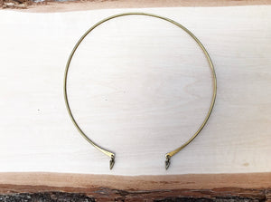 Brass wire collar