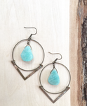 Urban Decay Angle Rounds with Amazonite Earrings