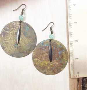 Urban Decay Round Earrings with Fringe