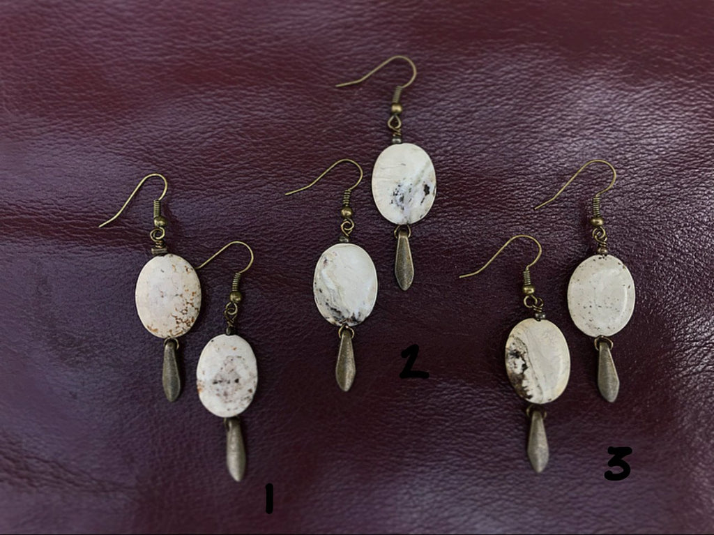 White Brioche Earrings