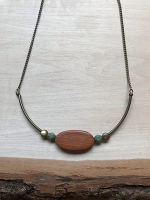 Wood n Green Agate shorty