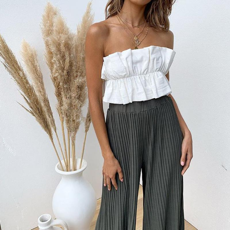 Off-Shoulder Wrapped Chest Top