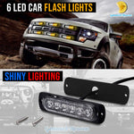 6 LED Car Flash Lights