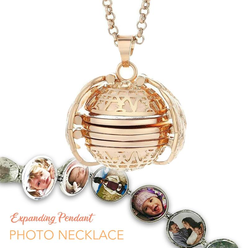 Expanding Pendant Photo Necklace