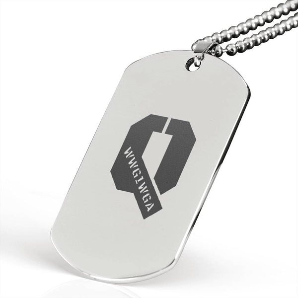 Q  WWG1WGA - Surgical Stainless Steel DogTag