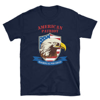 American Patriot / Honoring All Who Served - Short-Sleeve Unisex T-Shirt in Navy