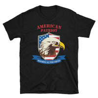 American Patriot / Honoring All Who Served - Short-Sleeve Unisex T-Shirt in Black