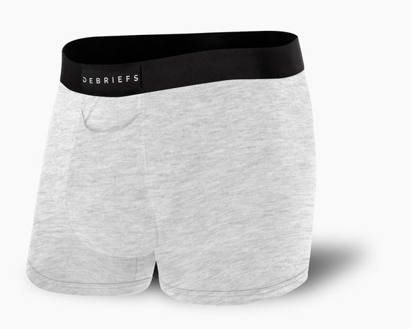 Mens Grey Trunks - Debriefs Underwear for Men