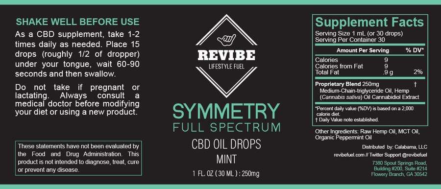 Symmetry - Full Spectrum 250mg Hemp Oil
