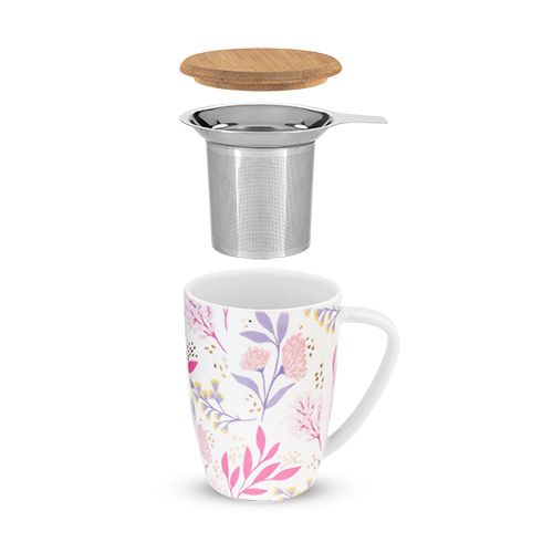 Taza Botanical Bliss con Infusor y Tapa