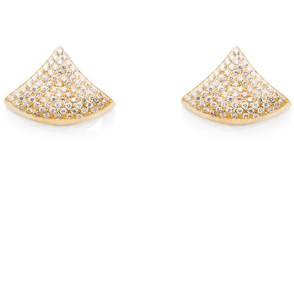 Gabriela Artigas & Company 14-Kt Shell Earrings with Pavé Diamonds