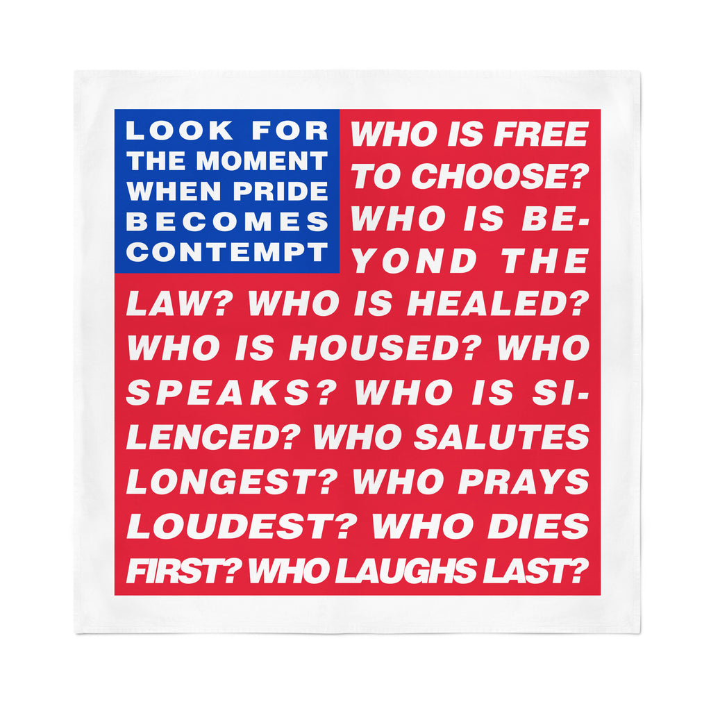 Barbara Kruger Untitled (Flag) Bandana