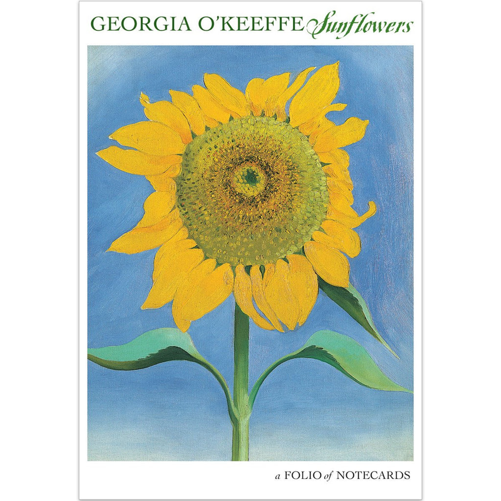 Georgia O'Keeffe Sunflowers Notecard Folio