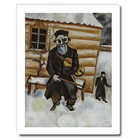 Marc Chagall Violinist on a Bench Print