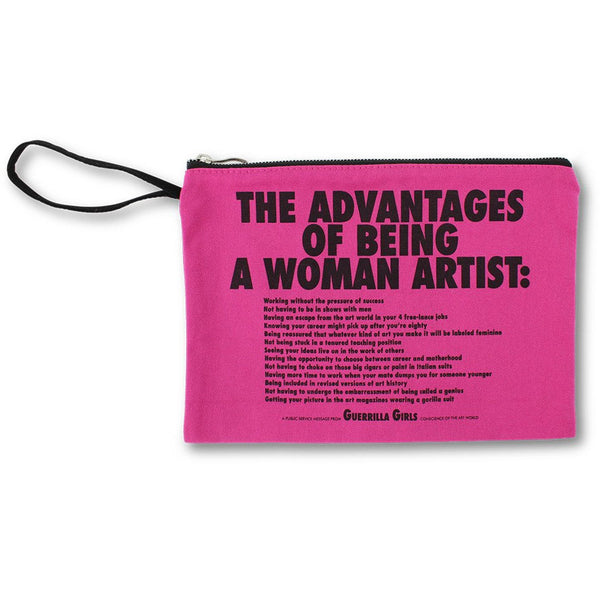 Guerrilla Girls Advantages of Being a Woman Artist Clutch