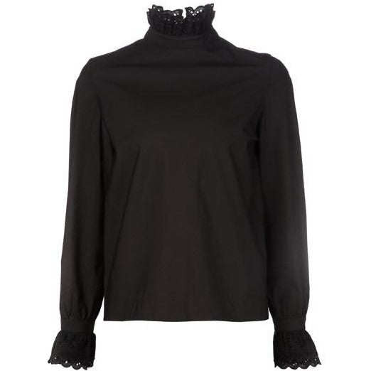 Co Long Sleeve Blouse in Black