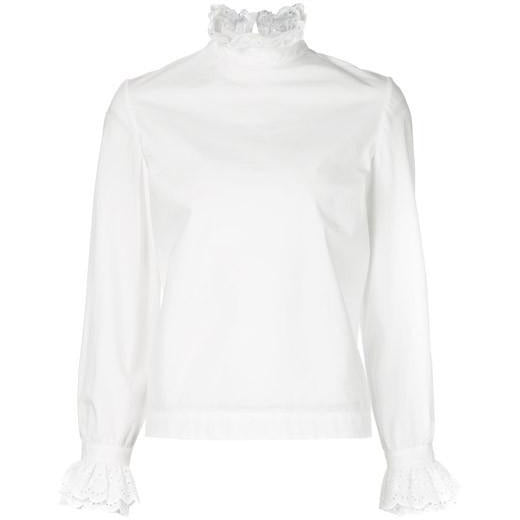 Co Long Sleeve Blouse in White