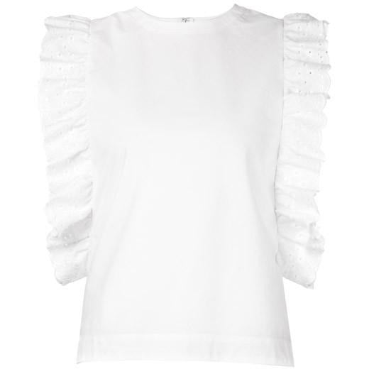 Co Short Sleeved Blouse in White