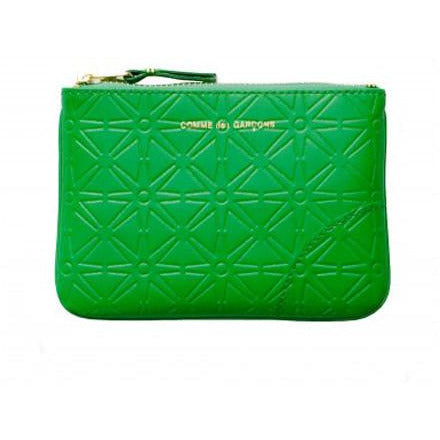 Comme Garçons Green Color Embossed Wallet