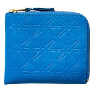 comme-garcons-star-embossed-blue-zip-wallet