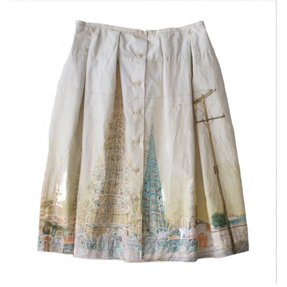 Dosa 'Watts Towers' Skirt