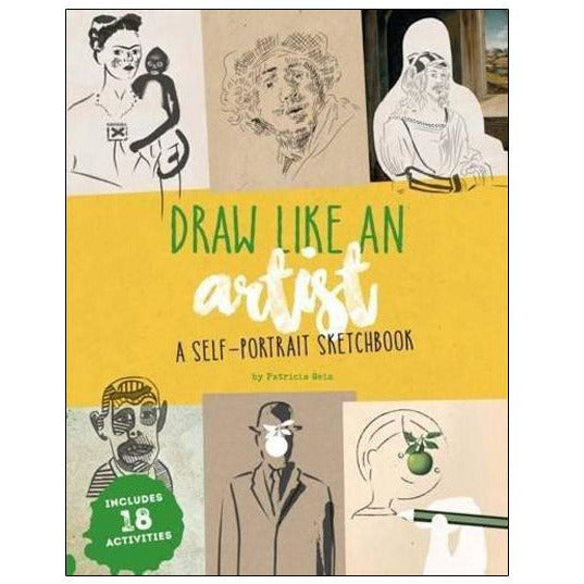 Draw Like Artist Self-Portrait Sketchbook