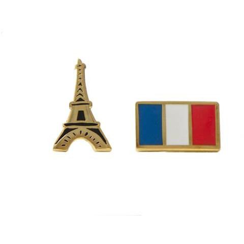 Eiffel Tower French Flag Earrings