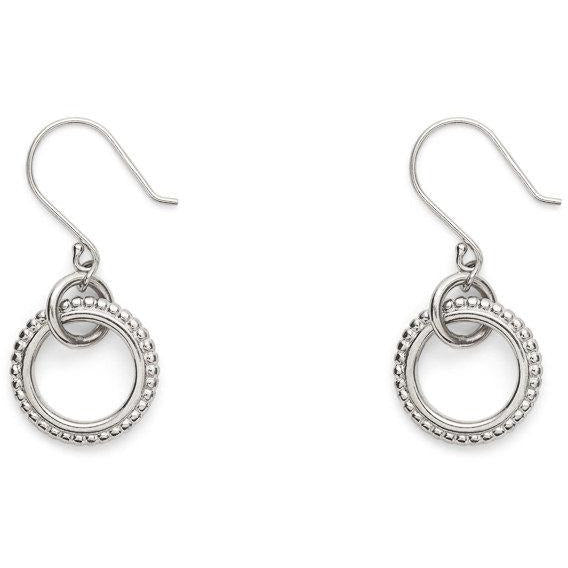 Byzantine Circle Earrings in Sterling Silver