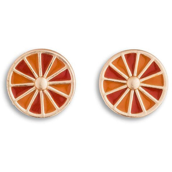 Egyptian Rosette Earrings in Persimmon