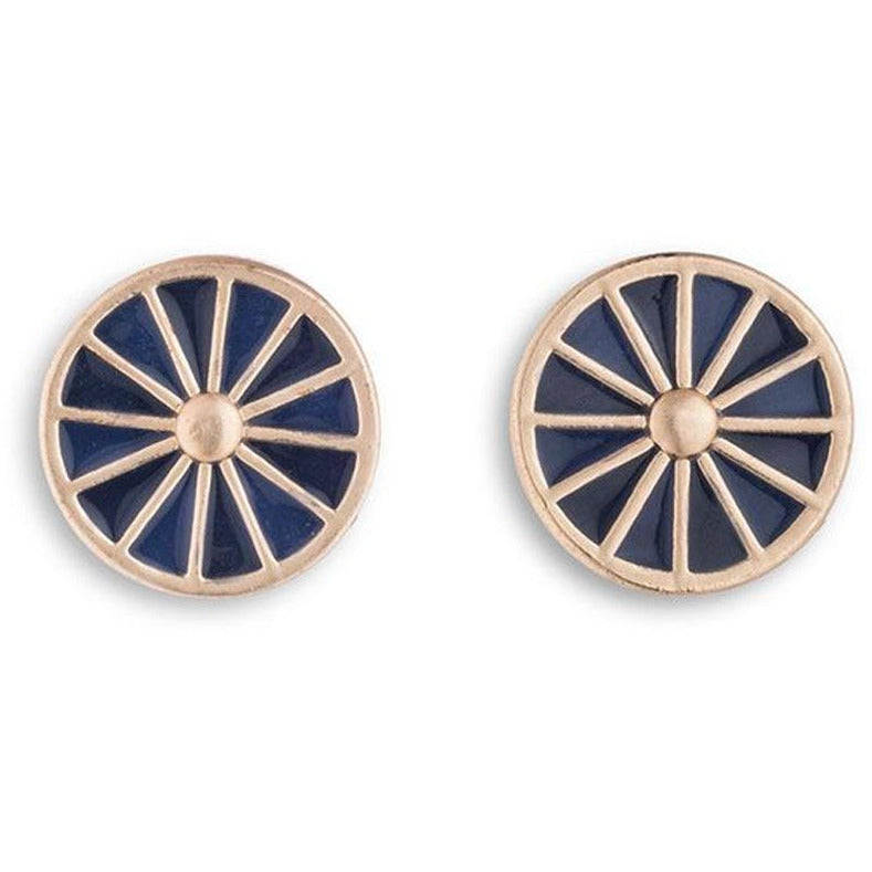 Egyptian Rosette Earrings in Royal Blue