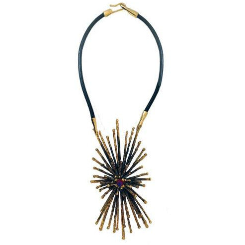 Lisa Eisner: Ray Necklace-Madeira Citrine