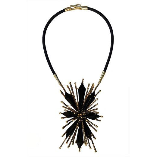 Lisa Eisner Ray Necklace with Black Jade