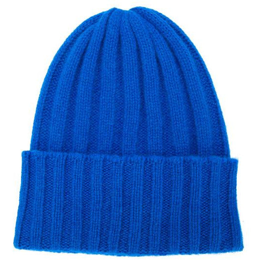 The Elder Statesman Short Bunny Echo Hat in Blue