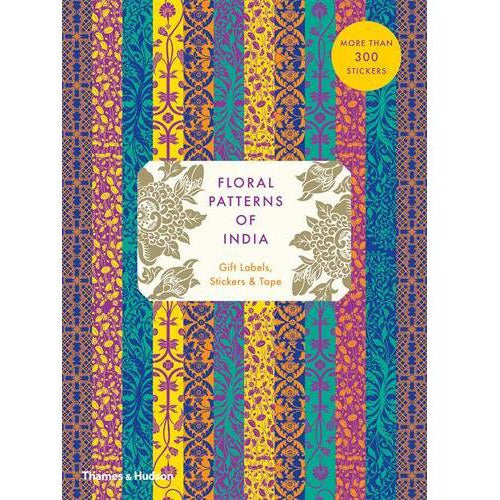 Floral Patterns of India Gift Labels, Stickers, and Tape