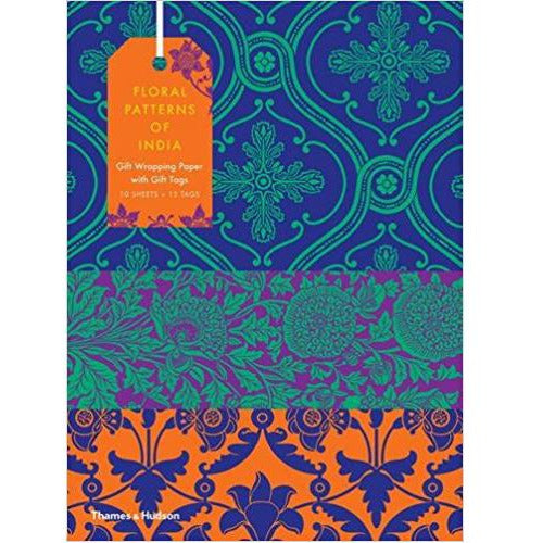 Floral Patterns of India Wrapping Paper and Gift Tags