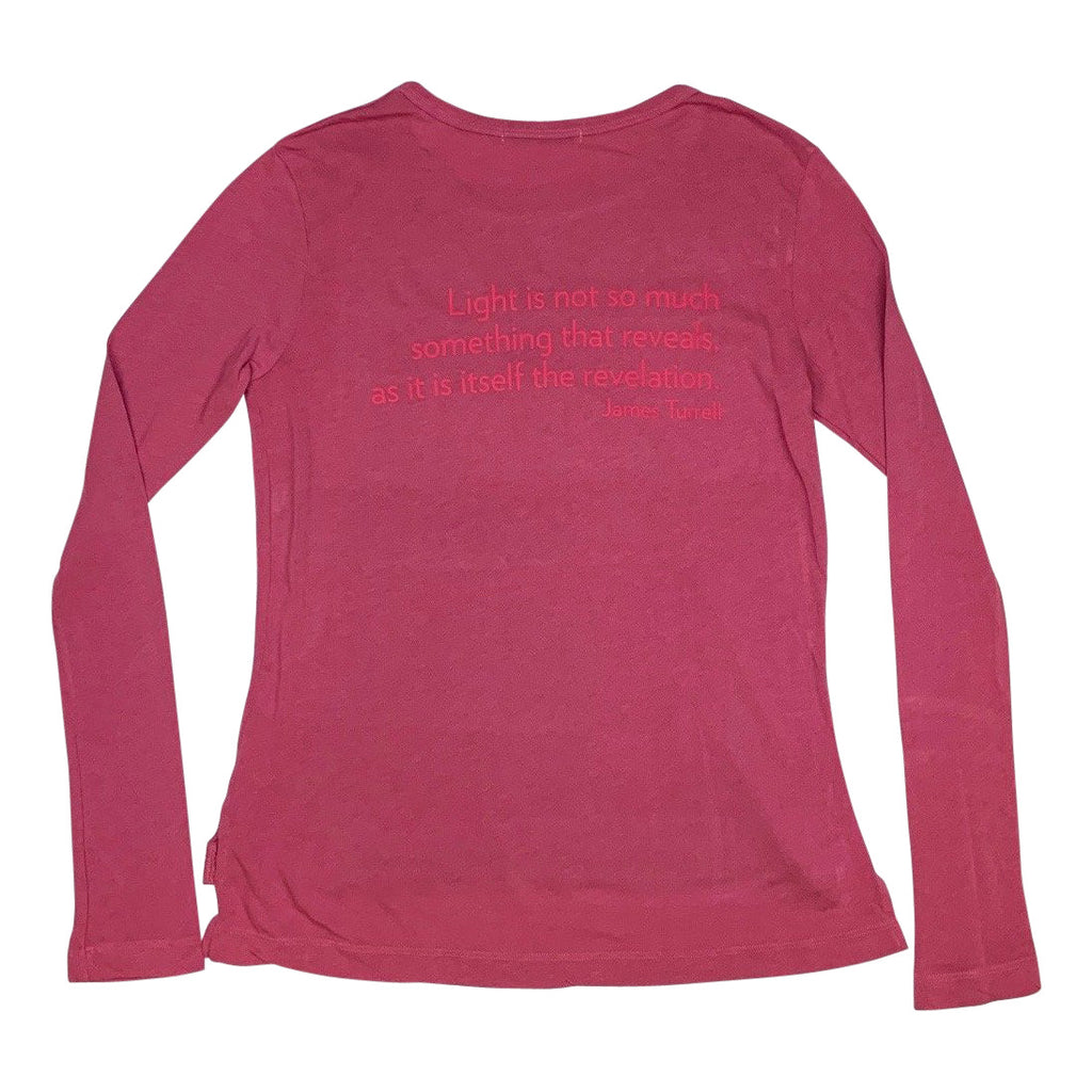 James Turrell Light Reignfall Women's Long Sleeve Shirt in Sangria by re:la for Wear LACMA