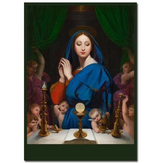 Ingres: The Virgin with the Host Holiday Cards