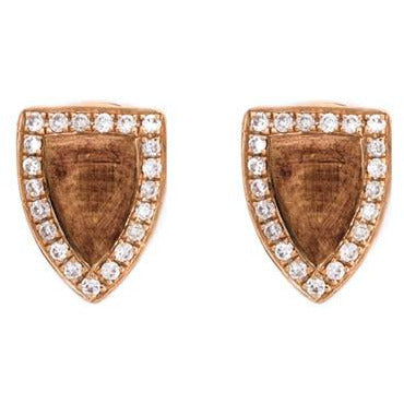 Anita Ko 18-Kt Wood and Diamond Studs