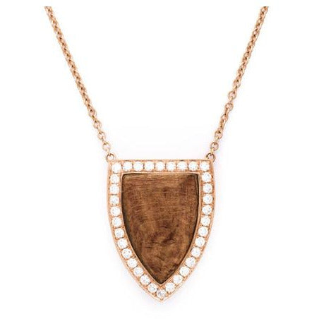 Anita Ko 18-Kt Wood and Diamond Large Pendant