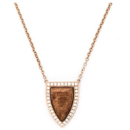 Anita Ko 18-Kt Wood and Diamond Small Pendant