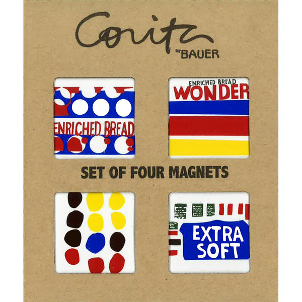 Corita Kent Set of 4 Wonderbread Series Magnets