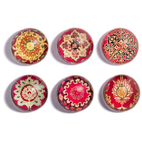 Islamic Carpets Domed Magnet Set
