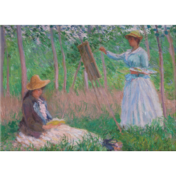Claude Monet In the Woods at Giverny Magnet