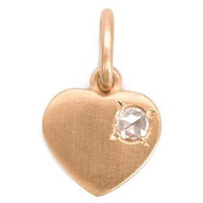 Irene Neuwirth 18-kt Rose Gold Heart with Diamond Pendant